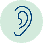 blue-ear-icon-green-background