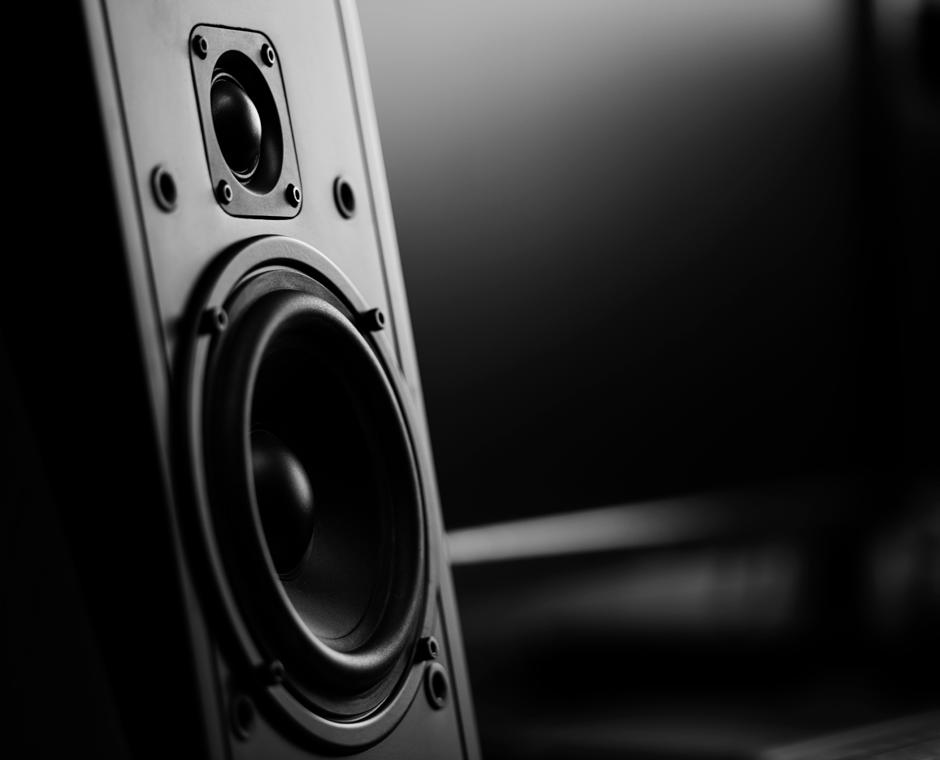 Speaker playing sound