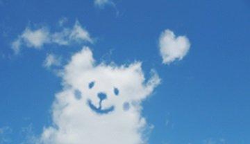 犬の形の雲