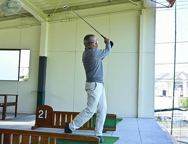 ゴルフの魅力を語るT.Sさん