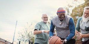 oticon brand story men playing basketball