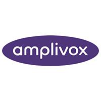 A photo of the Amplivox logo